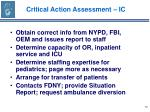 critical action assessment ic72