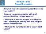 module three group discussion