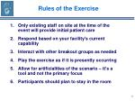 rules of the exercise