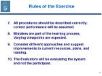 rules of the exercise6