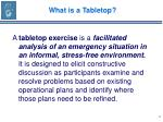 what is a tabletop