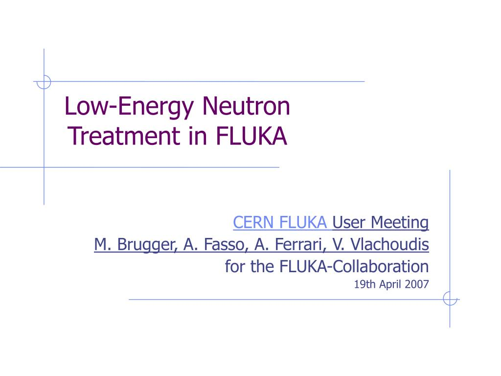 low energy neutron treatment in fluka l.