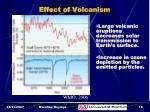 effect of volcanism