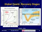 global ozone recovery stages