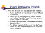 stage structured models