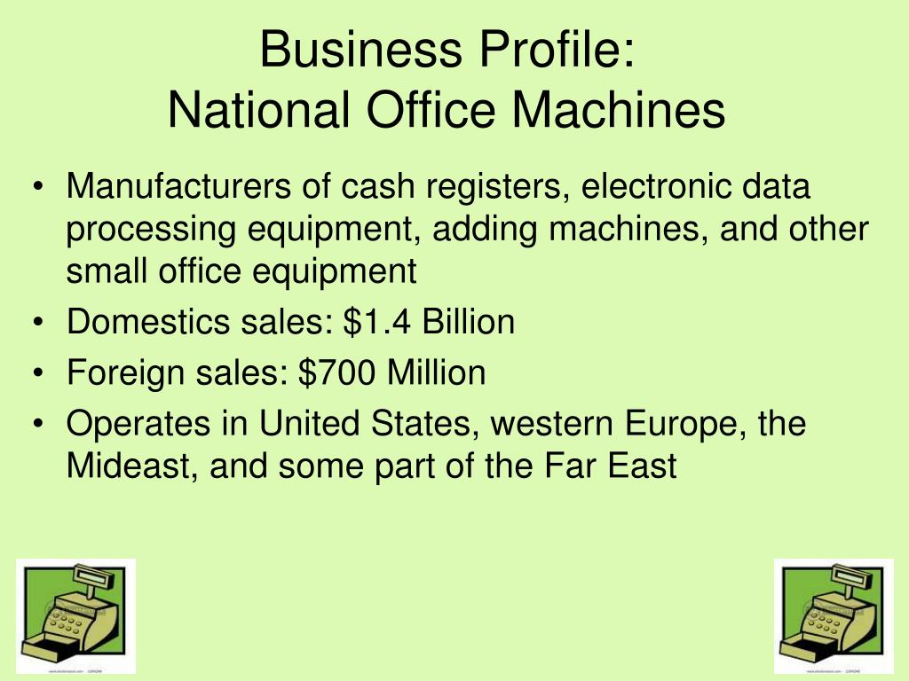 business profile national office machines l.