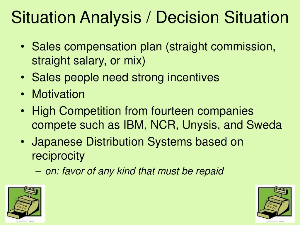 case 4 5 national office machines motivating japanese salespeople straight salary or commission