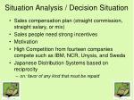 situation analysis decision situation