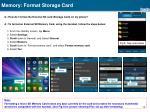 memory format storage card