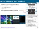 network radio fm radio frequencies