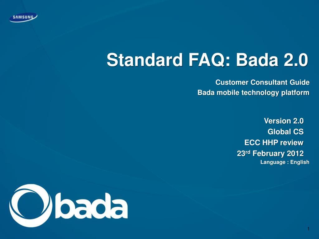 standard faq bada 2 0 l.