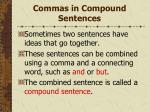 commas in compound sentences149