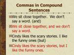 commas in compound sentences54