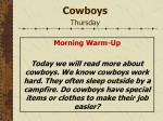 cowboys thursday