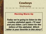 cowboys wednesday