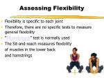 assessing flexibility
