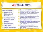 4th grade gps