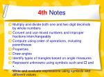 4th notes