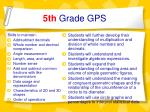 5th grade gps