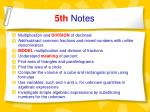 5th notes