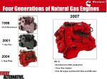four generations of natural gas engines