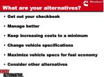what are your alternatives