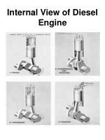 internal view of diesel engine