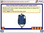 how do bullet proof vests work