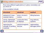 using carbon nanotubes