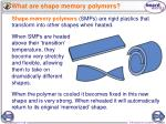 what are shape memory polymers