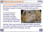 what is active packaging