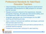 professional standards for adult basic education teachers