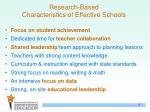 research based characteristics of effective schools