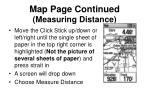map page continued measuring distance29