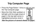 trip computer page