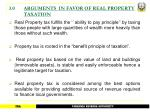 3 0 arguments in favor of real property taxation