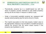4 0 horizontal and vertical equity in real property taxation cont