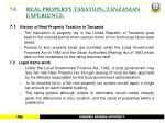 7 0 real property taxation tanzanian experience