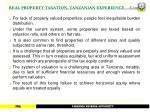 real property taxation tanzanian experience cont25