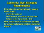 california most stringent requirements