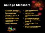 college stressors