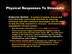 physical responses to stressors