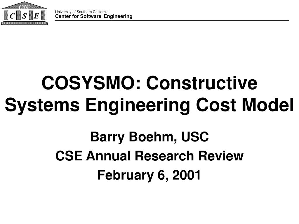 cosysmo constructive systems engineering cost model l.