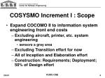 cosysmo increment i scope