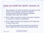quality care health plan qchp caremark inc