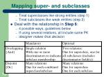 mapping super and subclasses