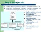 step 6 example ctd23