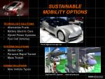 sustainable mobility options
