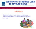 description of method used to develop goals