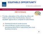 equitable opportunity